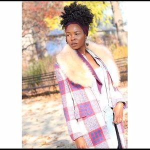 Zara plaid coat